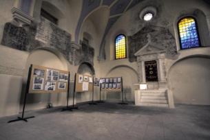 Wnętrze renesansowej synagogi w Pińczowie